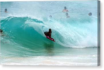 Barack Obama Canvas Print - Obama's Boyhood Bodysurfing Beach by Kevin Smith