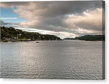 Canvas Print featuring the photograph Oban's Lagoon by Sergey Simanovsky