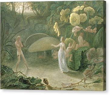 Fairies Canvas Print - Oberon And Titania, A Midsummer Nights Dream, Act II, Scene I, By William Shakespeare 1566-1616 by Francis Danby