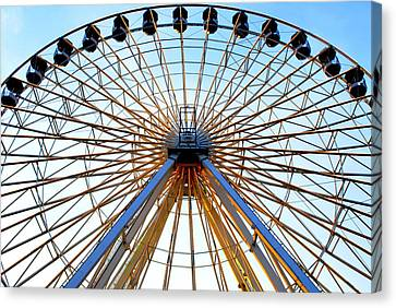 Observation Wheel Canvas Print by Mary Beth Landis