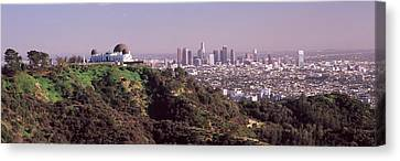 Observatory On A Hill With Cityscape Canvas Print