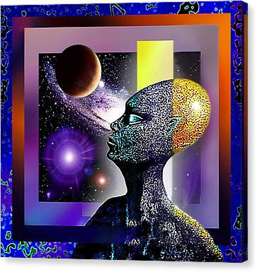 Canvas Print featuring the mixed media Observing The Cosmos by Hartmut Jager
