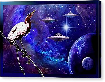 Observing The Majesty Of The Universe. Canvas Print by Hartmut Jager