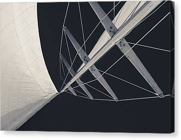 Obsession Sails 7 Black And White Canvas Print