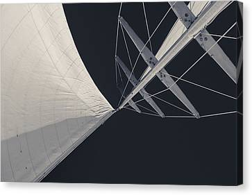 Obsession Sails 8 Black And White Canvas Print by Scott Campbell