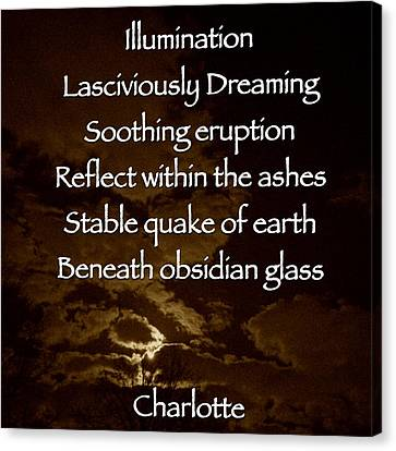 Obsidian Glass Canvas Print