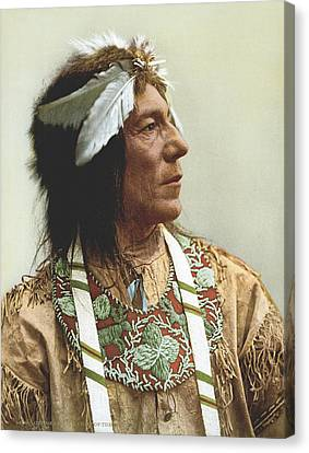 Obtossaway, An Ojibwa Chief Canvas Print by Underwood Archives