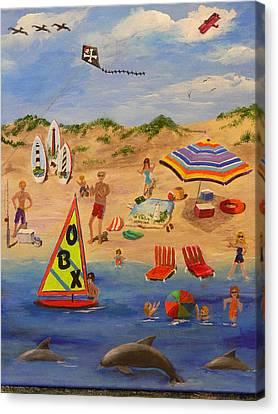 Obx Beach Canvas Print