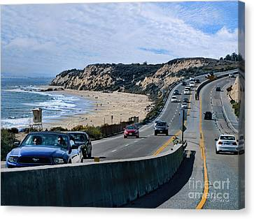 Oc On Pch In Ca Canvas Print by Jennie Breeze