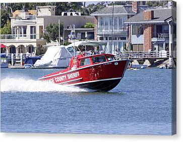 Oc Sheriff Harbor Patrol Fire Fighter Canvas Print by Shoal Hollingsworth