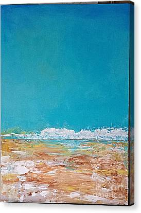 Canvas Print featuring the painting Ocean 2 by Diana Bursztein