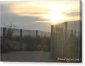 Ocean Access At Sunrise Canvas Print by Robert Banach