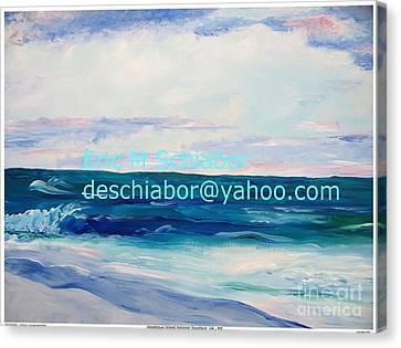 Ocean Assateague Virginia Canvas Print by Eric  Schiabor