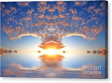 Ocean At Sunset Canvas Print by Michal Bednarek