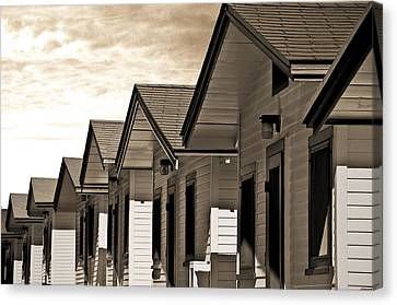 Ocean Beach Bungalows Canvas Print by Larry Butterworth