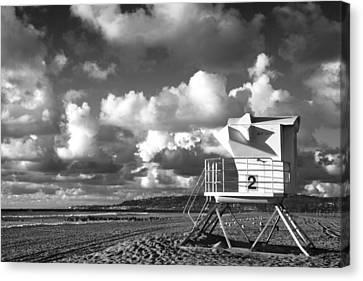 Ocean Beach Lifeguard Tower Canvas Print