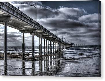 Ocean Beach Pier Canvas Print by Photographic Art by Russel Ray Photos