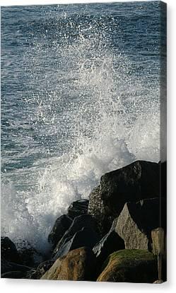 Ocean Beach Splash 1 Canvas Print