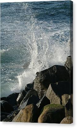 Ocean Beach Splash 2 Canvas Print