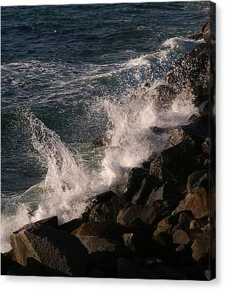 Ocean Beach Splash 3 Canvas Print
