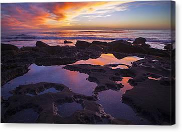 Ocean Beach Sunset  Canvas Print