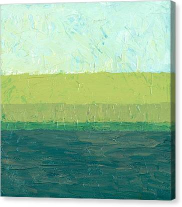 Ocean Blue And Green Canvas Print by Michelle Calkins