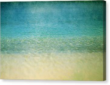 Canvas Print featuring the photograph Ocean Blue by Heather Green