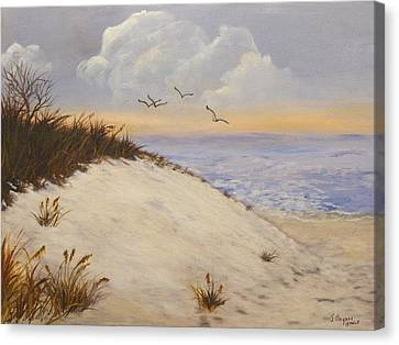 Canvas Print featuring the painting Ocean Breeze by J Cheyenne Howell