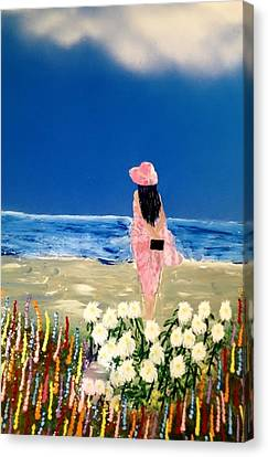 Canvas Print featuring the painting Ocean Breeze by Michael Rucker