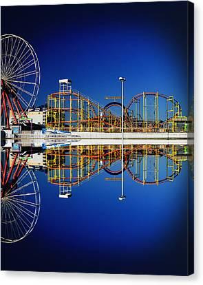Ocean City Amusement Pier Reflections Canvas Print
