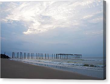 Ocean City At The  59th Street Pier Canvas Print by Bill Cannon