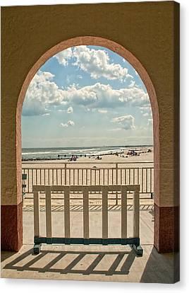 Ocean City Beach View Canvas Print
