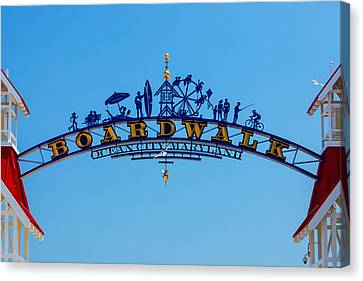 Ocean City Boardwalk Arch Canvas Print