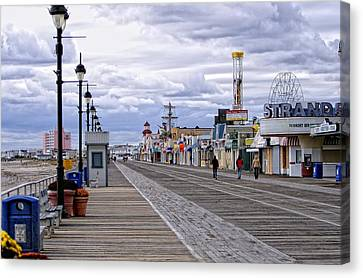 Ocean City Boardwalk Canvas Print by John Loreaux