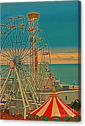 Ocean City Castaway Cove Ferris Wheel Canvas Print