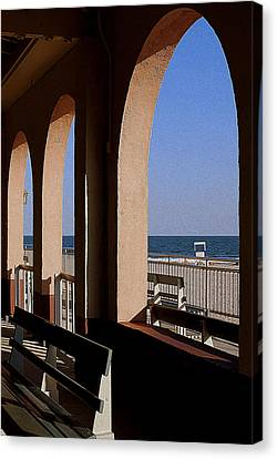 Ocean City Music Pier View Canvas Print by Mary Beth Landis