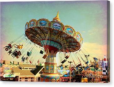 Ocean City Nj Carousel Swing Time Canvas Print