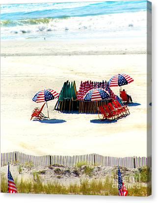 Ocean City Nj Stars And Stripes Canvas Print