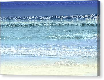 Warm Summer Canvas Print - Ocean Colors Abstract by Elena Elisseeva