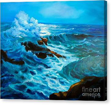 Canvas Print featuring the painting Ocean Deep by Jenny Lee