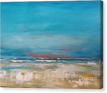 Canvas Print featuring the painting Ocean by Diana Bursztein