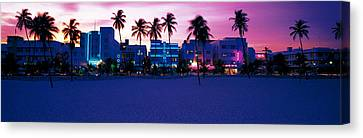 Ocean Drive Miami Beach Fl Usa Canvas Print by Panoramic Images