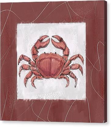 Ocean Finest-marsala Pantone 18-1438 Canvas Print by Lourry Legarde