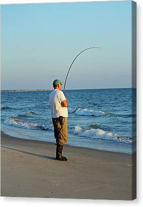 Canvas Print featuring the photograph Ocean Fishing by Cynthia Guinn