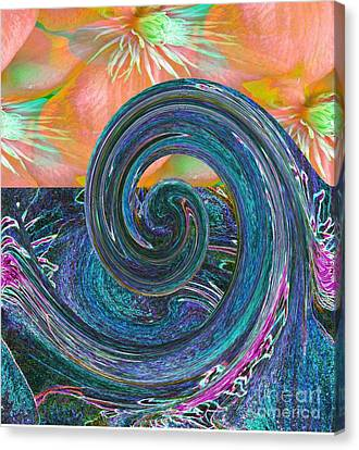 Ocean Flower Canvas Print by Maestro