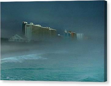 Ocean Fog Canvas Print by Ed Roberts