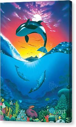 Ocean Freedom Canvas Print by MGL Studio - Chris Hiett