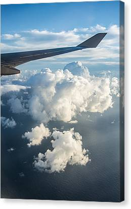 Ocean From The Sky Canvas Print by Parker Cunningham