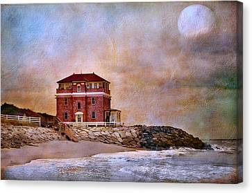 Ocean Front Canvas Print by Barbara Manis