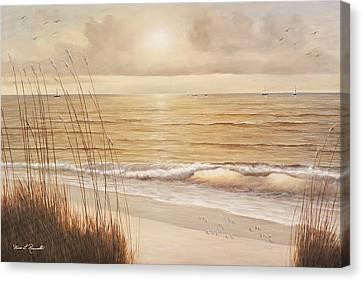 Ocean Glow Canvas Print by Diane Romanello